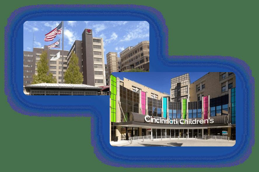 University Hospital of Cincinnati (UCH) and Cincinnati Children's Hospital Medical Center (CHMC) join OSOTC