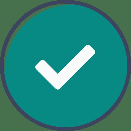 confirmation check mark